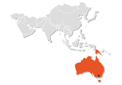 RINGSPANN Australia on world map